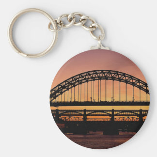 Tyne Bridge, Newcastle, England Basic Round Button Key Ring