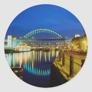 Tyne Bridge, Newcastle-Upon-Tyne, England Round Sticker