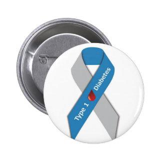 Type 1 Diabetes Awareness Ribbon 6 Cm Round Badge