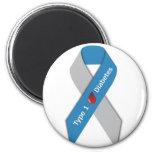 Type 1 Diabetes Awareness Ribbon 6 Cm Round Magnet