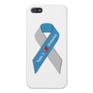 Type 1 Diabetes Awareness Ribbon iPhone 5 Cases