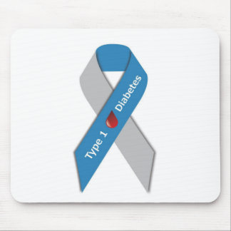 Type 1 Diabetes Awareness Ribbon Mouse Mat