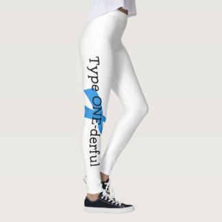 Type 1 Diabetes Blue Ribbon Awareness HOPE Leggings