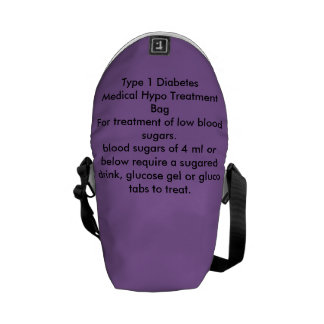 Type 1 Diabetes Hypo Treatment bag Courier Bags