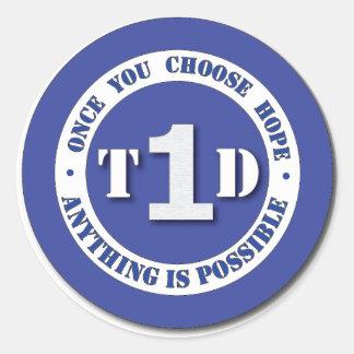Type 1 Diabetes Super Hero Shield Sticker