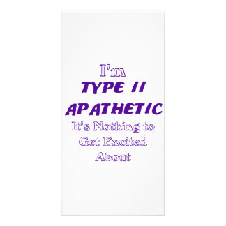 Type 2 Apathetic Personalized Photo Card