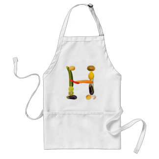 "type character ""H"" OF fruits and vegetables Aprons"