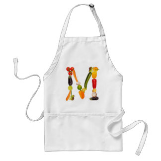"type character ""M"" OF fruits and vegetables Standard Apron"