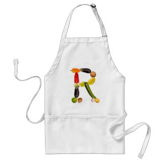 "type character ""R"" OF fruits and vegetables Aprons"