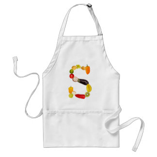 "type character ""S"" OF fruits and vegetables Standard Apron"