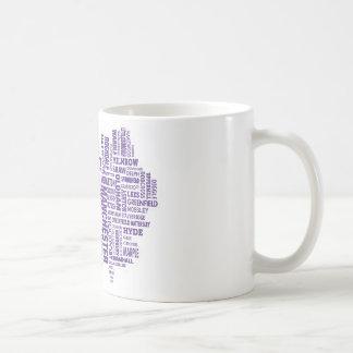 Type map of Greater Manchester Basic White Mug