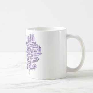 Type map of Greater Manchester Coffee Mug