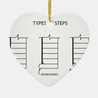 Type of steps for stair design christmas ornament