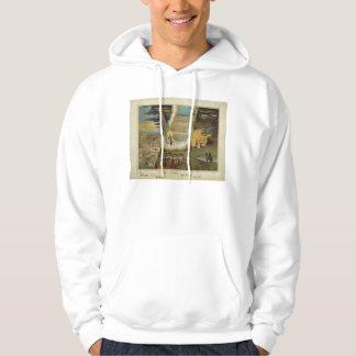 Type of the Messiah by J. Wilson in 1868 Hooded Sweatshirt