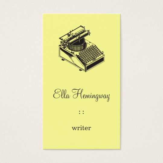 Type Writing Machine Business Card