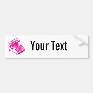 Type Writing Machine - Magenta Writer typewriter Bumper Sticker