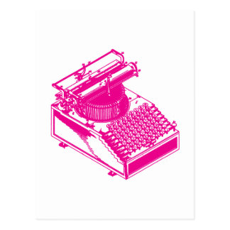 Type Writing Machine - Magenta Writer typewriter Postcard