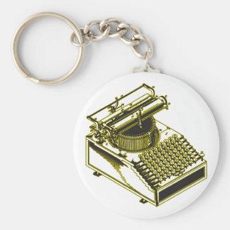Type Writing Machine Patent Illustration Keychains