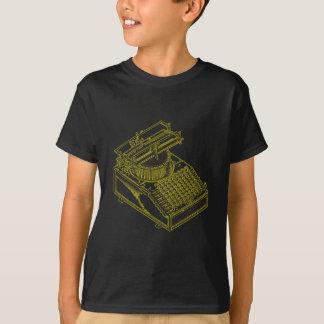 Type Writing Machine Patent Illustration T-Shirt