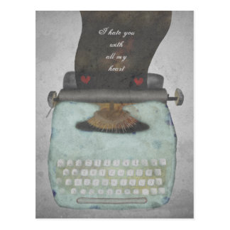 Type your own message vintage typewriter postcard