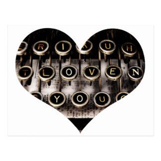 Typed Heart Postcard