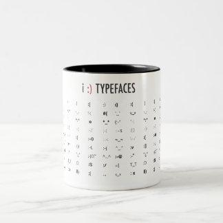 Typefaces Two-Tone Mug