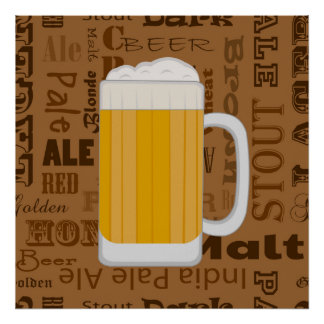 Types of Beer Series Print 1