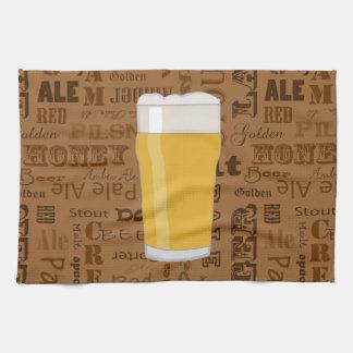 Types of Beer Series Print 2 Tea Towel