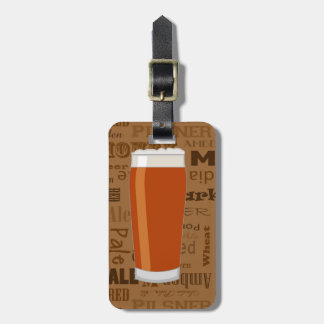 Types of Beer Series Print 3 Luggage Tag