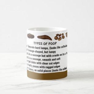 Types of Poop Coffee Mug