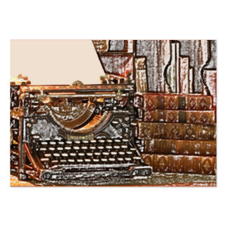 Typewriter and books pack of chubby business cards