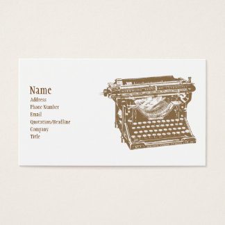 Typewriter Business Card