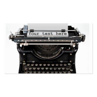 Typewriter Business Cards