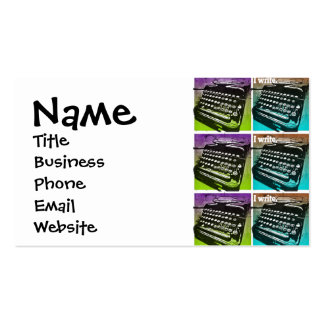 Typewriter Cool Pop Art for Writers and Authors Business Card