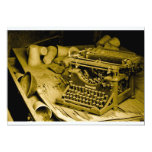 "typewriter invitation 5"" x 7"" invitation card"