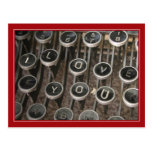 """Typewriter Keys """"I Love You"""""""