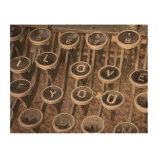 "Typewriter Keys ""I Love You"" (LUV) Cork Fabric"