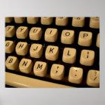 Typewriter Keys Print
