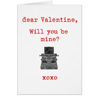 Typewriter Love Note - Valentines Card