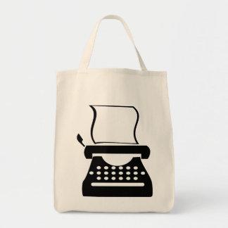 Typewriter - Manual Typing Old School Writing Grocery Tote Bag