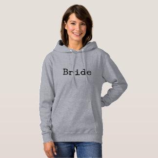 typewriter old fashioned bride bridal hoodie