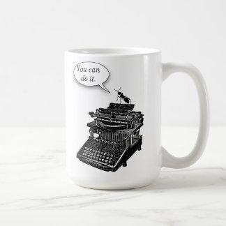 Typewriter Pep Talk Ant Mug