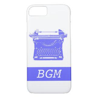 Typewriter Phone Case with Monogram