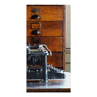 Typewriter Picture Card