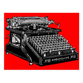 Typewriter Postcard