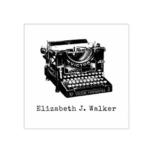 Typewriter Rubber Stamp, personalized Rubber Stamp