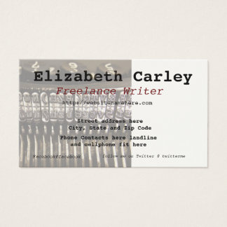 Typewriter Scene Business Card