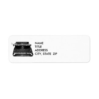 Typewriter  Writer Author Novelist Address Labels