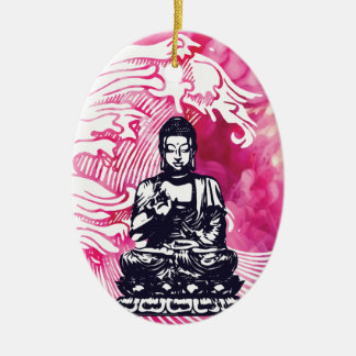 Typhoon Buddha Wave Christmas Ornament