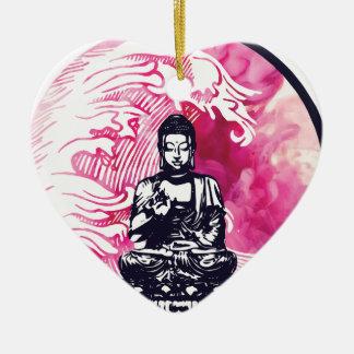 Typhoon Buddha Wave Christmas Ornament